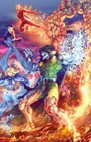Fantastic Four VS Doctor Doom by OZartwork
