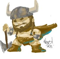 viking digital character by digital-alero