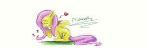 Fluttershy Doddle by tythecooldude06