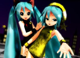 MMD 1052 Chibi Pokemon and Kitty Miku by Magic-yumi