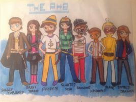 The PHB Crew :3 by 1313cookie