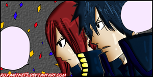 GRAYZA~ Erza Scarlet and Gray Fullbuster by Roxamine13