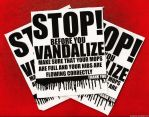 Stop Vandal Stickers by GosteOner