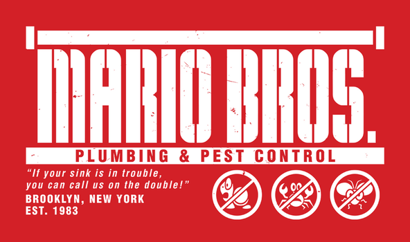 Mario Bros. Plumbing and Pest Control by wildwing64