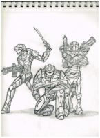 Spearhead, Vanguard, and Critical Mass by CommanderCanteets
