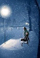 River walk benches, Strasbourg, sometime ago. by PascalCampion