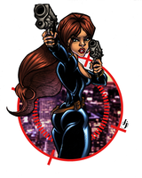 Black Widow COLORS (White BG) by MadcapLLC