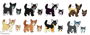 Free Adoptables batch 70 (Closed) by Kitty-of-Doom524
