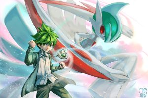 Pokemon : Wally and Mega Gallade
