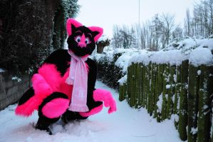 Ice Cold Pinkness by FurryFursuitMaker