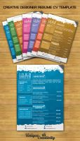 Creative Designer CV Template by UniqueCreativity