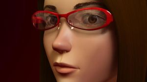 Some girl with glasses by agwong