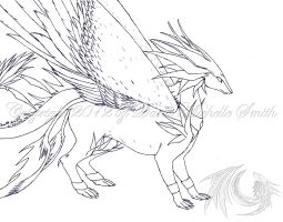 My Dragonsona (winged form) by ZeitgeistDragon