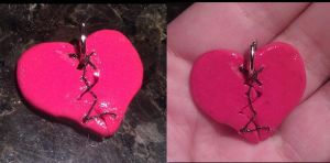 Mended Heart charm by FallenAngelKrisi