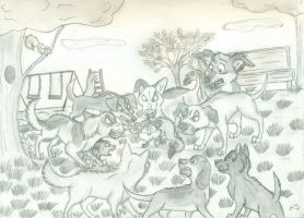 Pack Mentality (Sketch) by wahyawolf