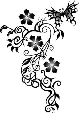 design possible flower tattoo for Kat by blahsunday on deviantart good design for upper back body tattoo, lower front body tattoo, arm tattoo, foot tattoo for women tattoos design