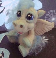 polymer clay pegasus pennie by crazylittlecritters
