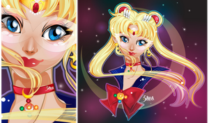 SailorMoon [Vector FanArt by 3ahia] by 3ahia