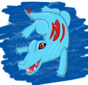 Swimming Totodile by ColdFlames0
