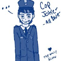 Cop Joker -All Blue- by The-Smile-Giver