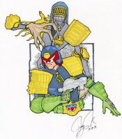 Judge Dredd and Judge Death by jerryma