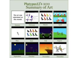 2011 Summary of Art by platypus12