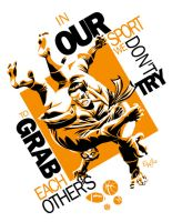 Judo - Grab - Tshirt Design by EryckWebbGraphics