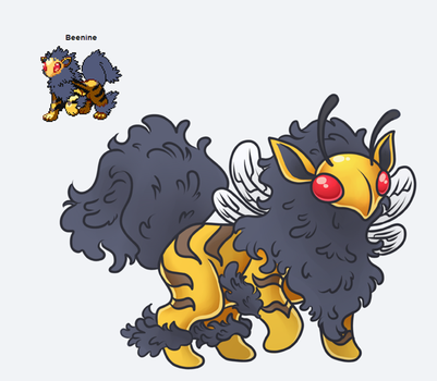 Beenine Pokemon Fusion by TentacleWaitress