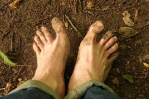 Woodland walk barefoot 3 by PhilsPictures