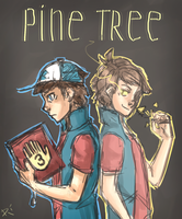 Dipper and Bipper by redcat-bear