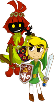 Skullkid and Link by Chyro999