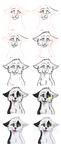 ..Steps of my drawing process.. by CHAR-C0AL