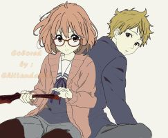 kyokai no kanata lineart: colored by Chiinyan