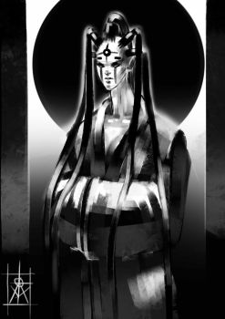 Priestess of the black moon by atomcyber