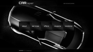 Car Repair Website Main Page Mockup by YesIMaDesigner