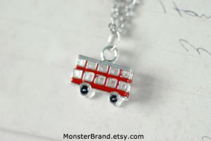 London Double Decker Bus Necklace by MonsterBrandCrafts