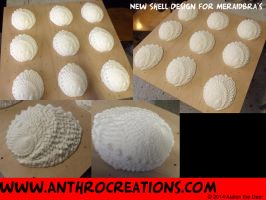 Neu Vac. Mold for Mermaid Bra - Seaear Shell by AtalontheDeer