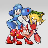 Rockman Roll and Rush by SandikaRakhim