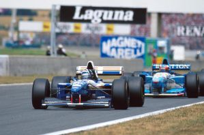 Damon Hill | Michael Schumacher (France 1995) by F1-history