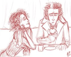 Worst Pies in London - sketch by jaymetwins