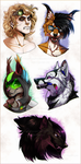 Head Bust Commissions (Batch 2) by NinjaKato