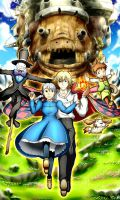 Howl's Moving Castle by Smudgeandfrank