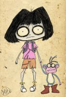 Creepy Dora by Bobibel