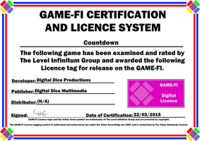 Countdown Game-Fi Certificate by LevelInfinitum