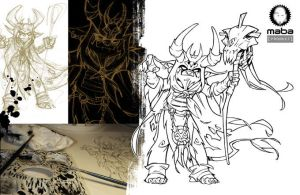 Inking Chaman by MabaProduct
