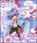 Adoptables03: Twin-Tailed Samurai [CLOSED] by Rinslettuce
