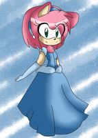Amy cinderella by xXrosethehedgehogXx