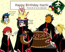 Itachi's Birthday by ToonTwins