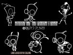 Invader Zim Brushes by RagdyDesigns