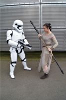 Rey and First order Stormtrooper (2) by masimage
